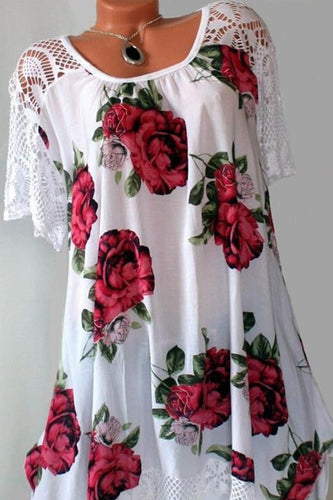 Printed plus Size Dress