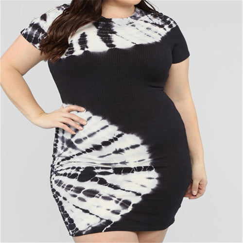 Summer Fashion Printed Dresses For Large Size Women's Dresses
