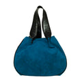 Vegan Camille Velvet Hobo Bag - Blue - Veenofs