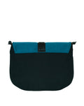Vegan Camille Velvet Shoulder Bag - Blue - Veenofs