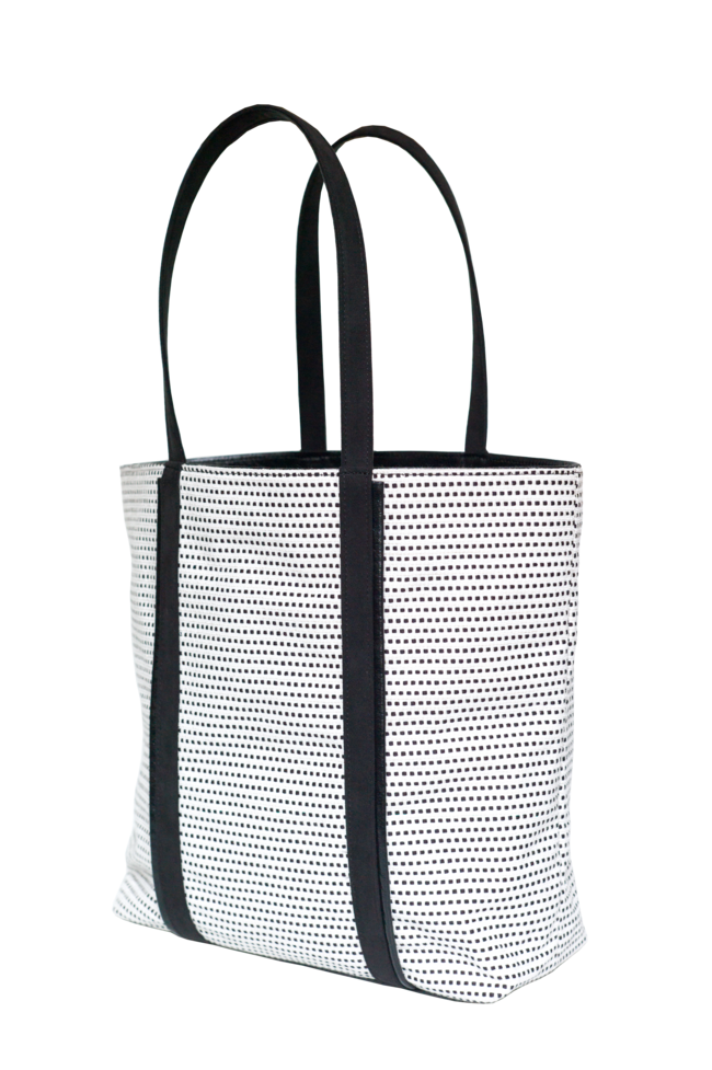 Camille Tote Bag Black and White