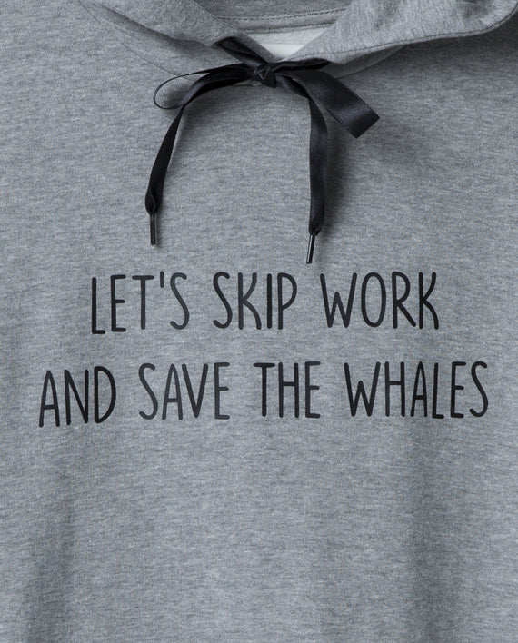 Patricia Correia Save The Whales Hoodie - Grey - Veenofs