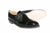 Womens Vegan Shoes - Two Tone Monkstrap (Black) - Vyom London | Quality Vegan Footwear