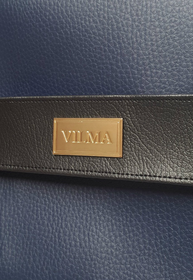 Vilma Minimalist Vegan Clutch Bag - Royal Blue - Veenofs
