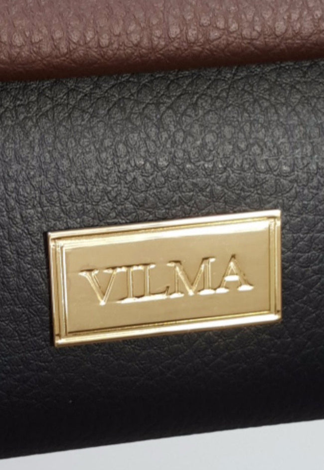 Vilma Vegan Wristlet - Black/Brown - Veenofs