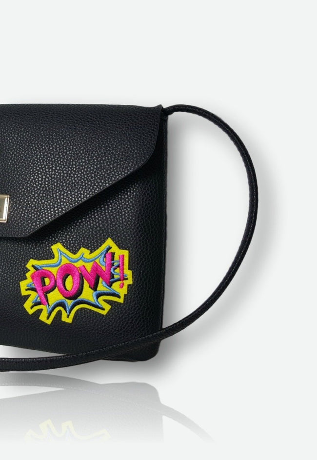 Vilma POW Vegan Shoulder Bag - Black - Veenofs
