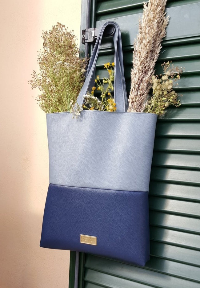 Vilma Vegan Tote Bag - Royal Blue - Veenofs