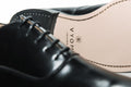 Mens Vegan Shoes - Toe Rose Oxford (Black) - Vyom London | Quality Vegan Footwear