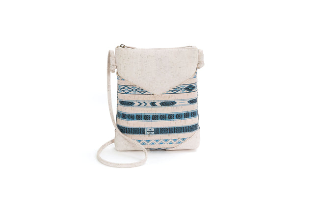 Liores Crossbody Cork Bag (Blue/White) - Veenofs