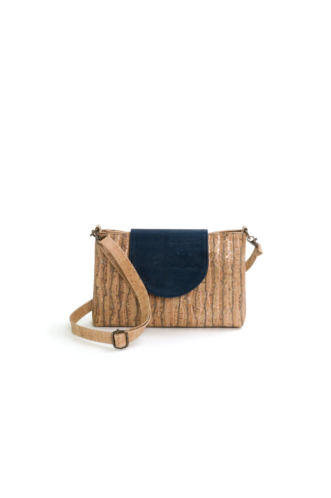Vegan Liores Cork Small Bag - Copper/Blue - Veenofs