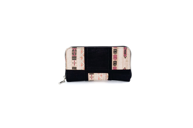 Liores Cork Women's Wallet - White Lilac/Black - Veenofs