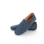 Liores Cork Moccasin For Man With Suede (Dark Blue) - Veenofs