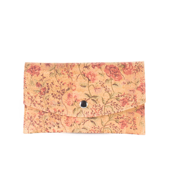 Liores Cork Wallet For Cards - Floral - Veenofs