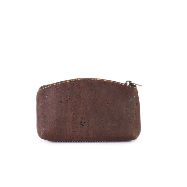 Vegan Liores Cork Medium Purse - Chocolate Brown - Veenofs