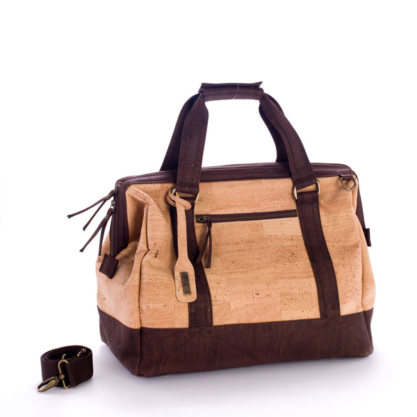 Liores Cork Travel Bag - Beige - Veenofs