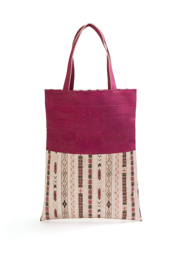 Liores Cork Shopping Bag - White Lilac/Lilac - Veenofs