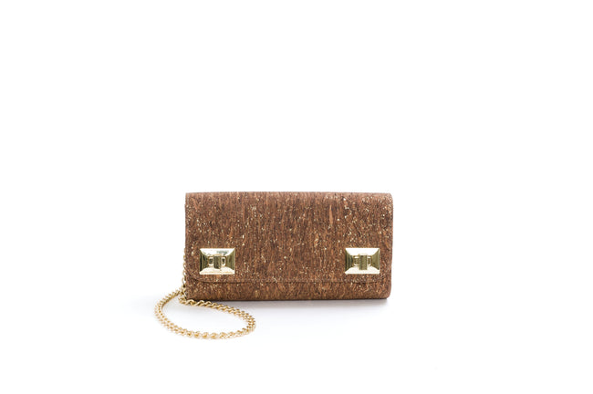 Vegan Liores Cork Pochette - Golden Brown - Veenofs