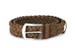 Liores Cork Unisex Braided Belt (40mm) - Brown - Veenofs