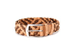 Liores Cork Unisex Braided Belt (40mm) - Beige/Brown - Veenofs