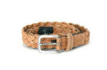 Liores Cork Unisex Braided Belt (30mm) - Beige - Veenofs