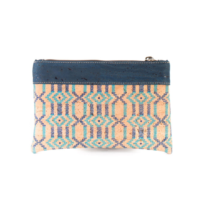 Vegan Liores Cork Bicolor Purse - Dark Blue/ Blue - Veenofs