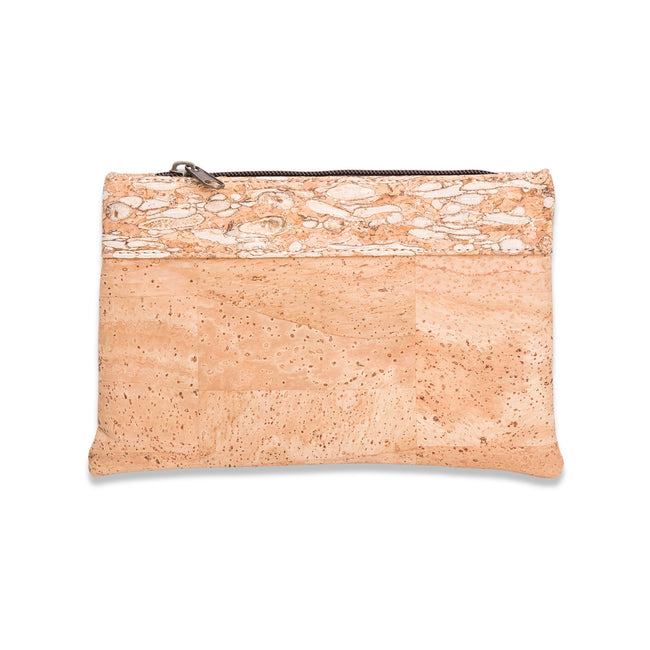 Vegan Liores Cork Bicolor Purse - Copper Fennel/Beige - Veenofs