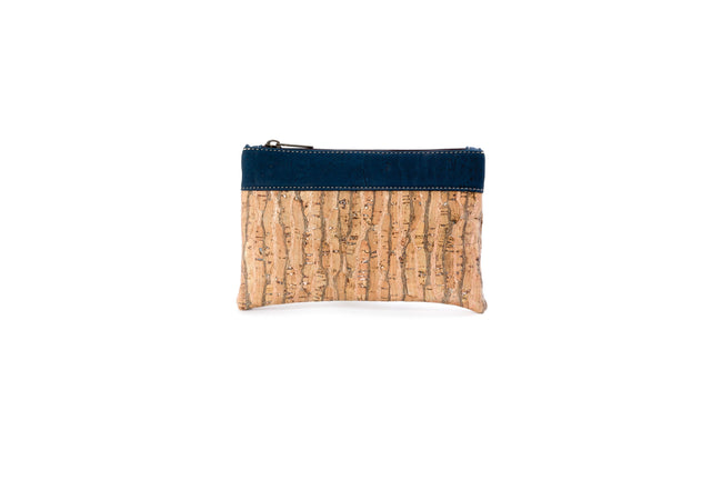 Vegan Liores Cork Bicolor Purse - Blue Copper - Veenofs