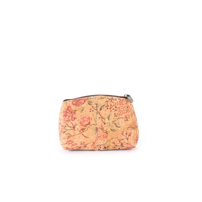 Vegan Liores Cork Small Purse - Floral - Veenofs