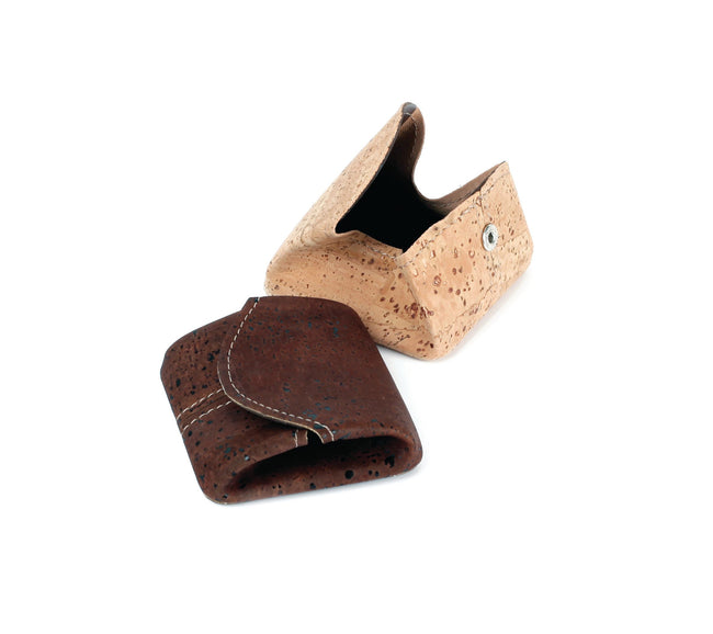 Vegan Liores Cork Square Coin Holder - Chocolate Brown - Veenofs