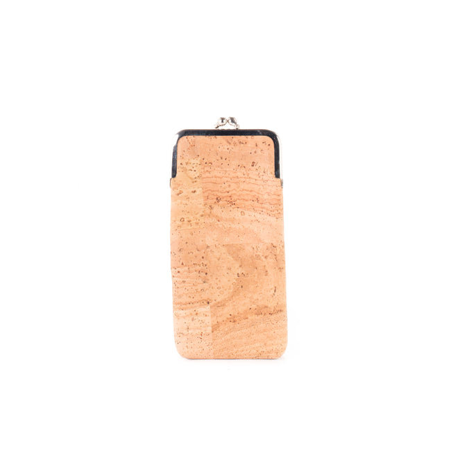 Vegan Liores Cork Glasses Case With Metal Lock - Beige - Veenofs