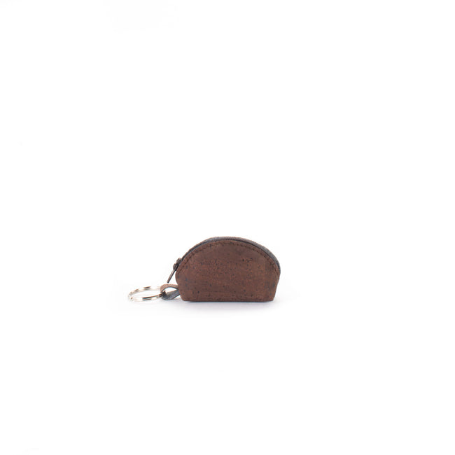 Vegan Liores Cork Half-Moon Purse - Chocolate Brown - Veenofs