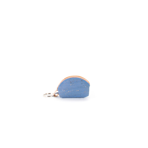 Liores Cork Half-Moon Purse - Blue Jeans - Veenofs