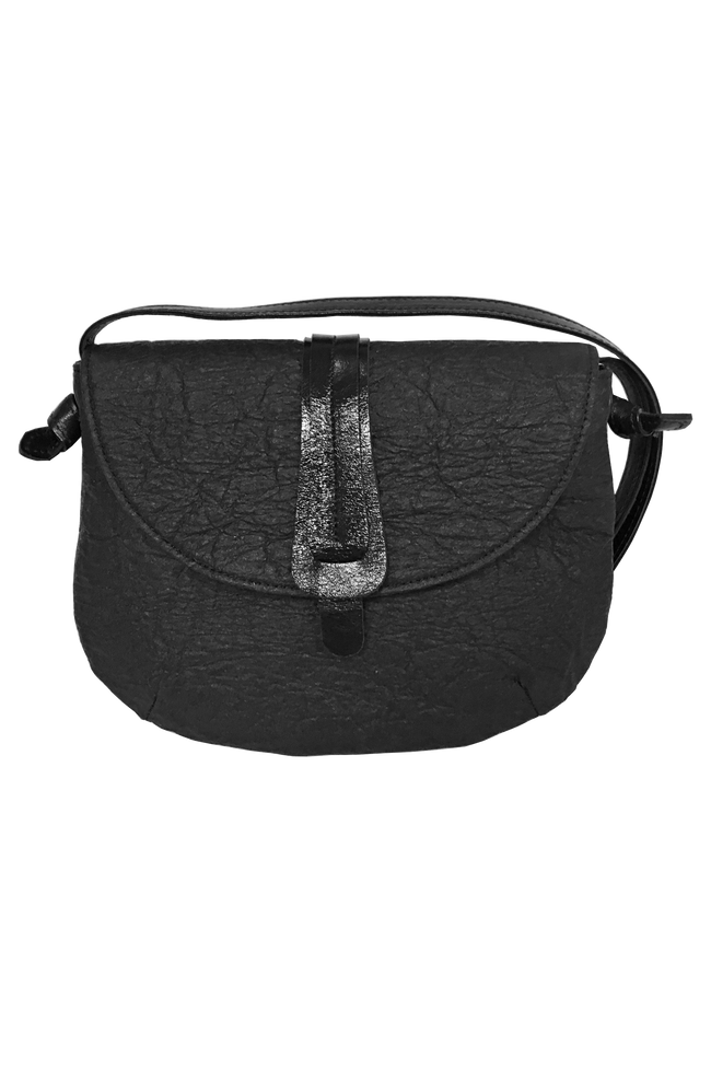Vegan Camille Shoulder Bag Piñatex - Black - Veenofs