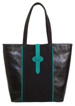 Camille Tote Bag Black and Green - Veenofs
