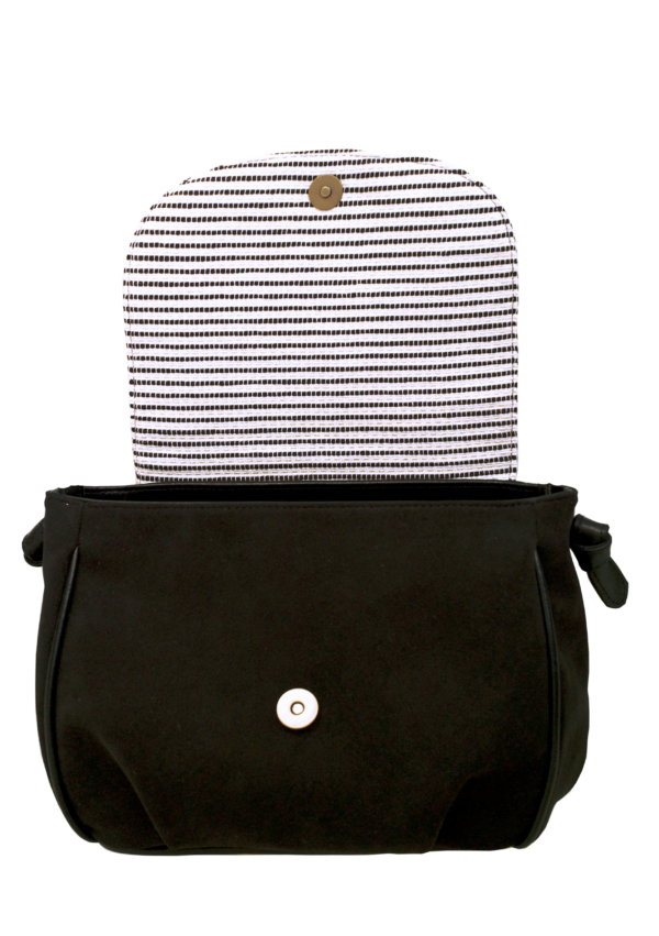 Vegan Camille Shoulder Bag Black and White - Veenofs
