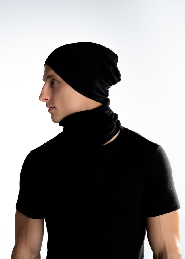 Fairpants Unisex Snood Style Scarf - Deep Black