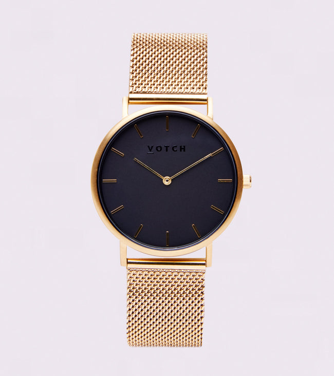 Votch Gold & Black With Gold Strap | Mesh Classic