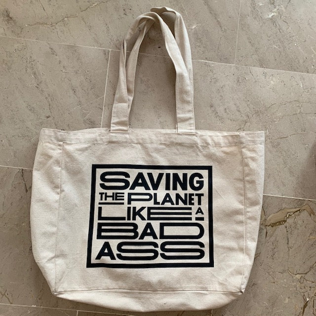 Love Gang Badass Tote Bag - Beige