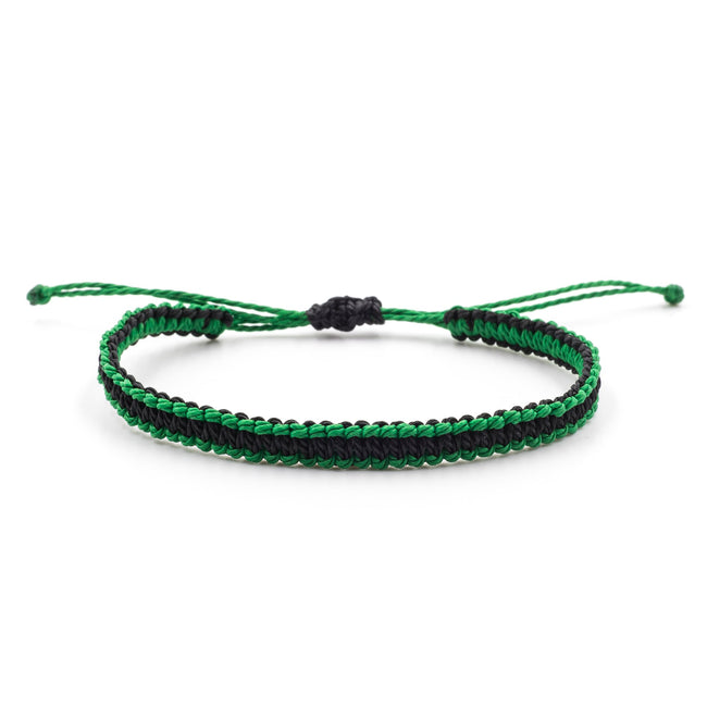 Vegan Evig Grön Tree Bracelet - Green/Black - Veenofs