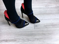 catwalk shot  of Luna black pump, cool vegan pumps by Ivana Basilotta