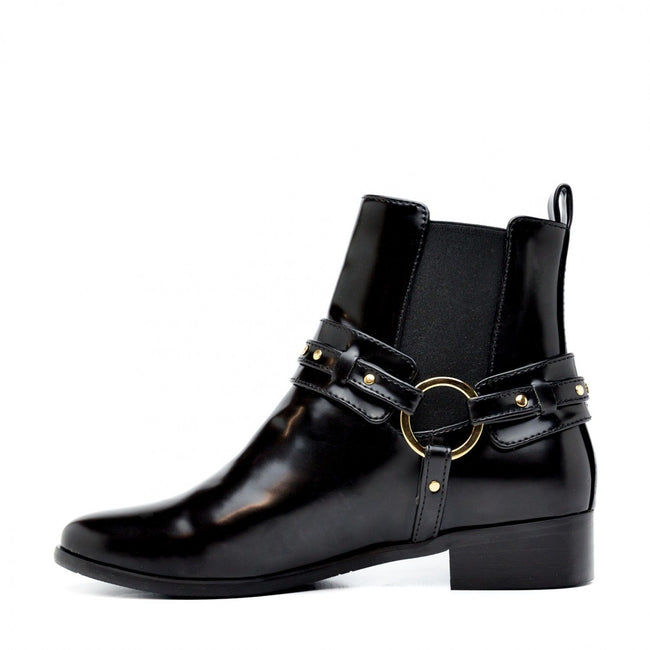 Nae Neus Ankle Boots With Two Straps - Black