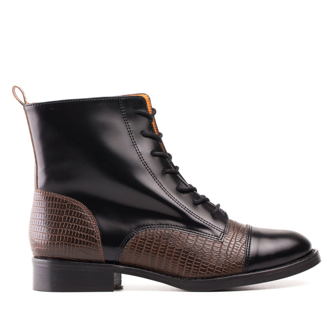 Nae Nicol Vegan Boots - Black/Brown - Veenofs