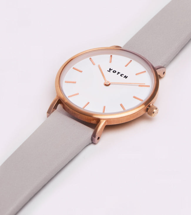 Votch The Light Grey And Rose Gold Petite