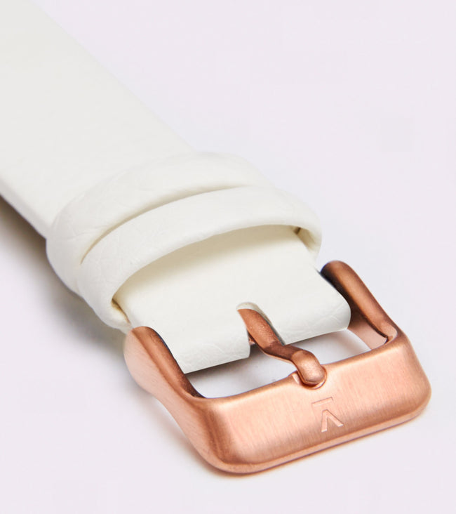 Votch Rose Gold Face With Off White Strap