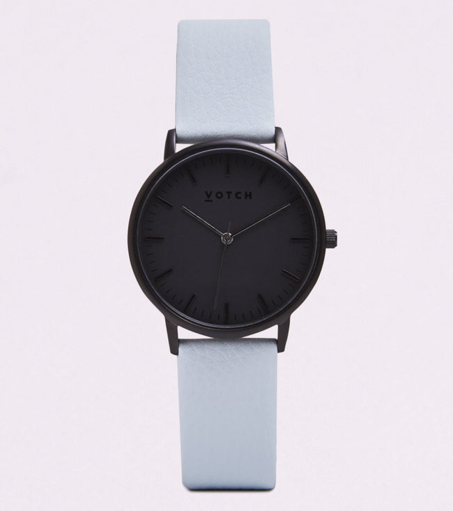 Votch All Black Face With Light Blue Strap