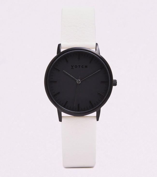 Votch All Black Face With Off White Strap