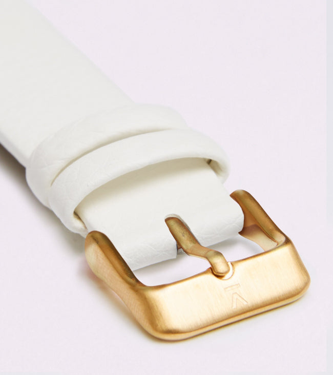 Votch Off White With Brushed Gold Buckle | 18mm