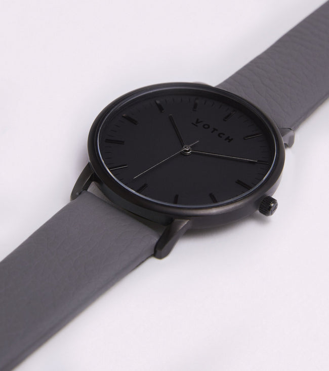 Votch All Black Face With Slate Grey Strap
