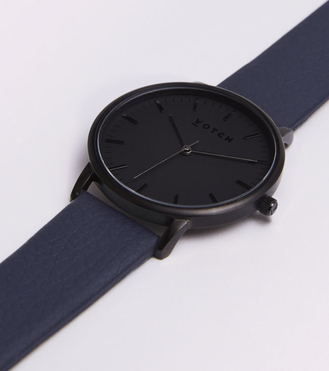Votch All Black Face With Navy Strap