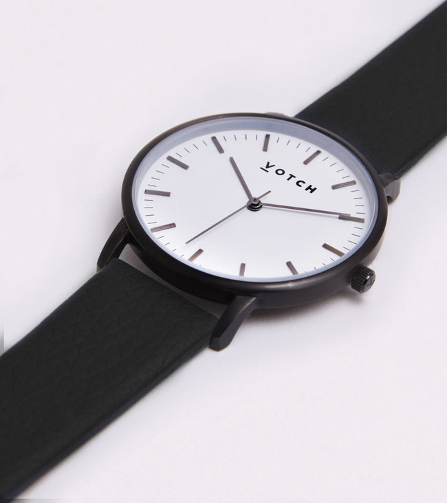 Votch Black And White Face With Black Strap